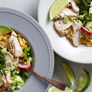Corn and Quinoa Bowls with Herb Sauce Recipe