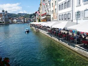 Photo: pohled z mostu Kapellbrücke