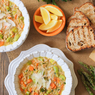Lemon Orzo Soup with Spring Vegetables