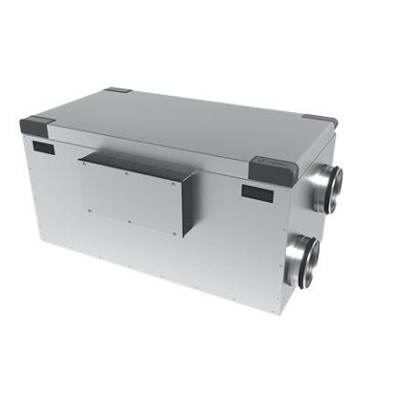 Nyhet! HERU 100 S EC-v1 aggregat med  värmeåtervinning 80 %- energifläktar- Boyta max 170 kvm