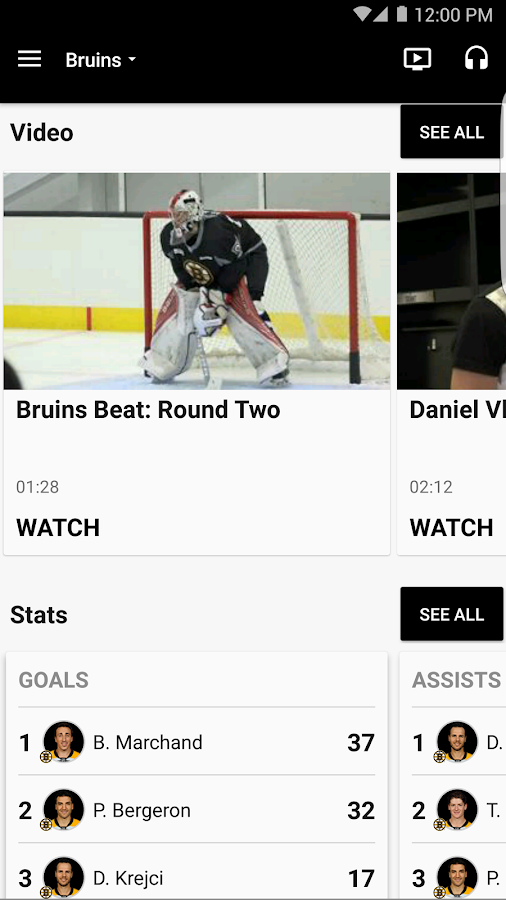 Boston Bruins Official App- screenshot