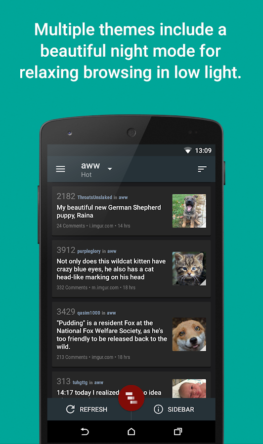 Relay for reddit (Pro)- screenshot