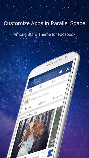 玩免費個人化APP|下載Among Stars Theme for FB app不用錢|硬是要APP