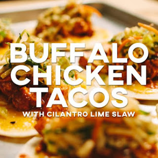 Buffalo Chicken Tacos with Cilantro Lime Slaw
