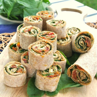 Sun-Dried Tomato Pesto Tortilla Rollups