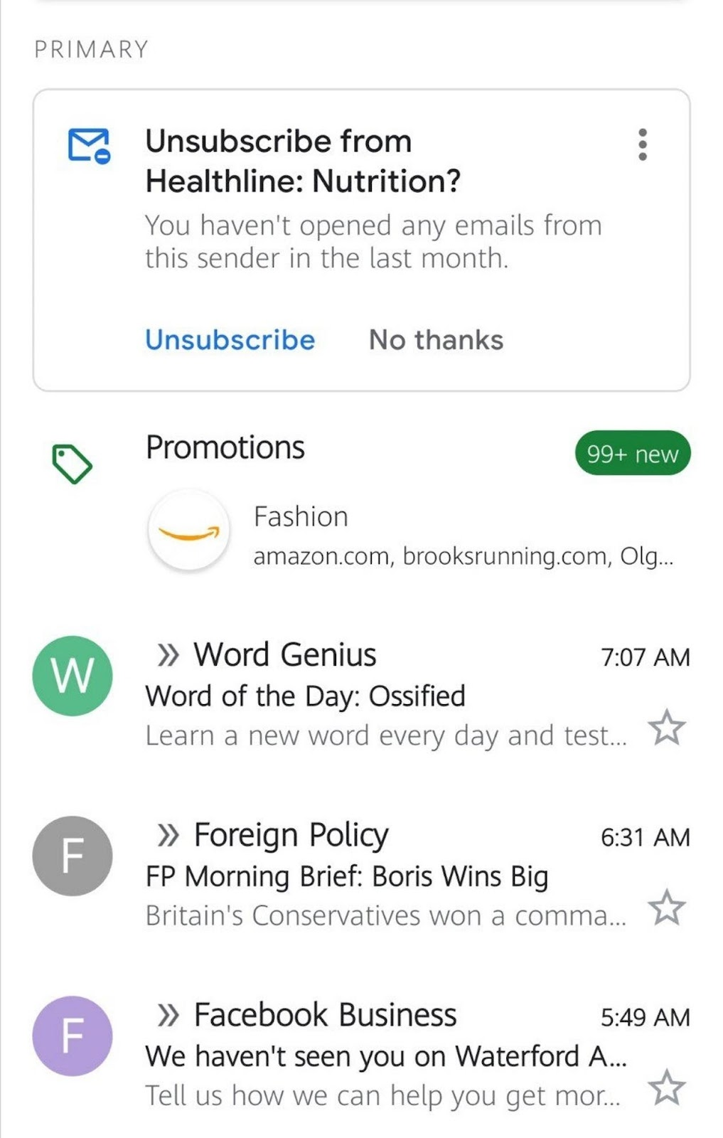 gmail email example