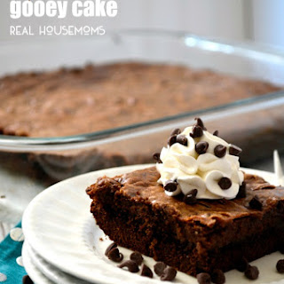Triple Chocolate Gooey Cake