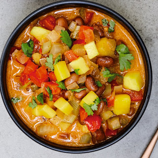 Caribbean Jerk Chili [Vegan, Gluten-Free].