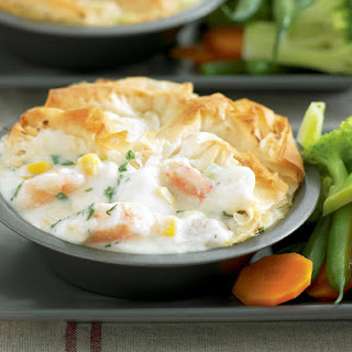 Creamy Fish and Herb Pies.