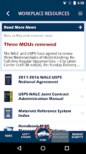 NALC Member App- screenshot thumbnail