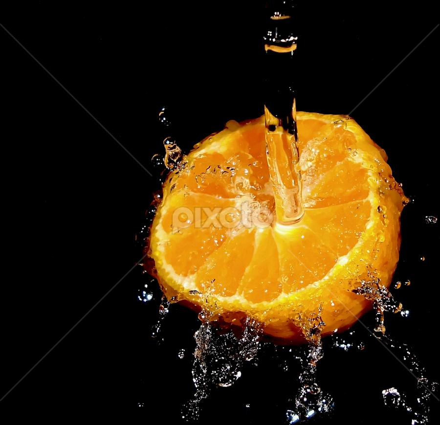 Orange Splash by Premkumar Antony - Food & Drink Fruits & Vegetables ( water, orange, fruit, stock, splash, food )