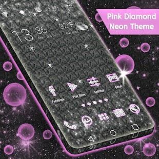 Pink Diamond Neon Téma - náhled