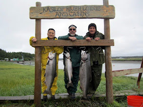 Photo: Another successful day of king salmon on the Kasilof river with Alaska's Drift Away Fishing.