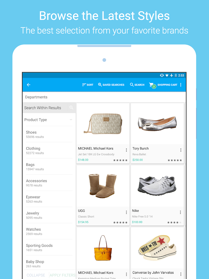 Zappos: Shoes, Clothes, & More- screenshot