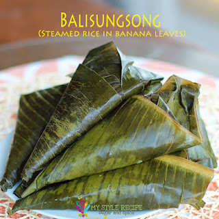Balisungsung (Steamed Rice in Banana Leaves)