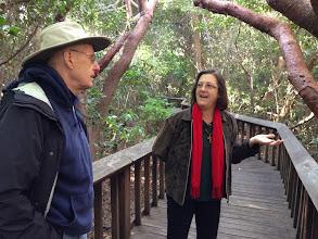 Photo: Artist Tom Ryan and Susan Eliott of Gumbo Limbo