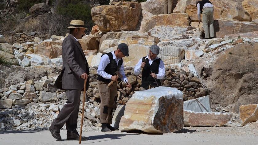 Unas 40 personas viajan a Cafranc para recrear a \'Canteros y caciques\'.