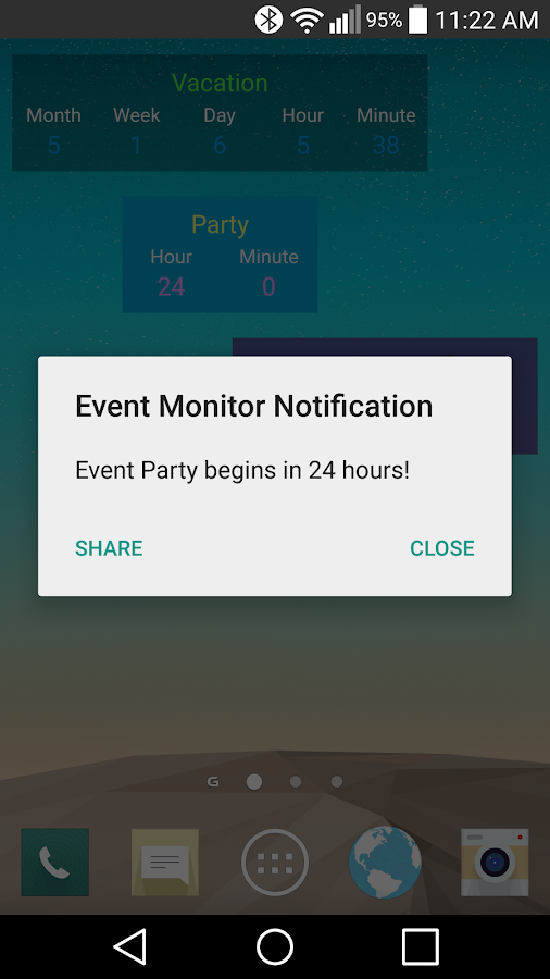 Event Monitor Widget Pro- screenshot