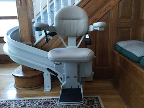 Photo: Historical Home Curved Stairlift