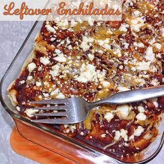 Healthy Gluten Free Leftover Enchiladas.