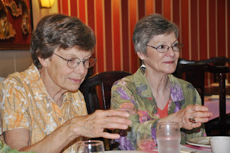 Photo: Marilyn Sandall and Connie Hutchison.