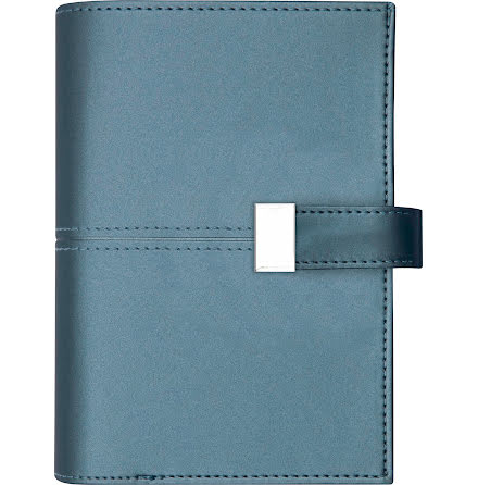 Dagbok konstläder slejf blå
