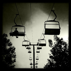 Riding Solo by Roger  Clay - Instagram & Mobile iPhone ( black and white, pomona ca, l.a. county fair )