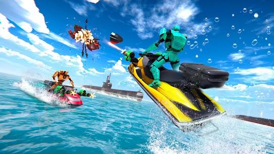 Jet Ski Robot Game: Submarine Robot Transformation 4
