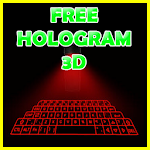 Hologram 3D keyboard prank 1.5 Apk