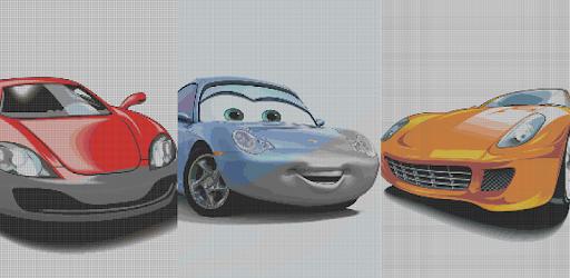 скачать Color By Number Cars Sandbox Coloring Pixel Art на