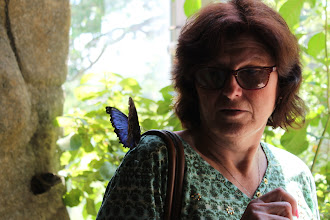 Photo: Oma was a little unsure of that butterfly.