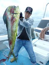 Photo: うひょー! デコッパチ!シイラ! ジャスト10kgでしたー! いつ見ても、ゴツい魚です。