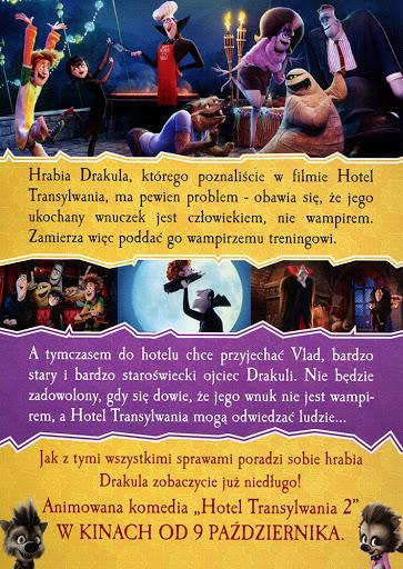 Tył ulotki filmu 'Hotel Transylwania 2'