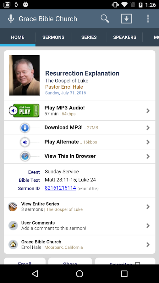 Grace Bible Church of Moorpark- screenshot