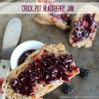 Crock-pot Blackberry Jam Naturally Thickened