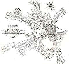 Photo: Planta da cidade, feita por Julio Frederico Koeler em 1846