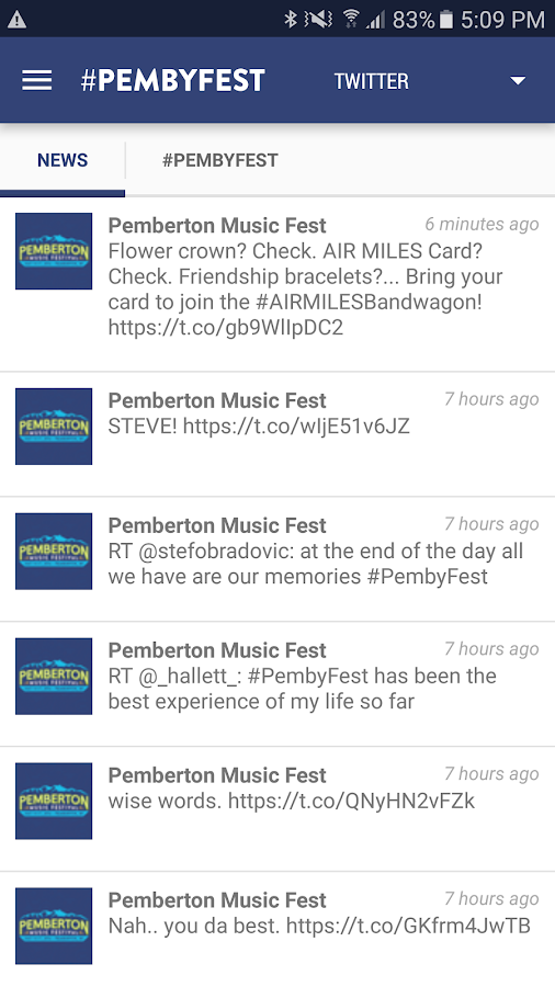 Pemberton Music Festival- screenshot