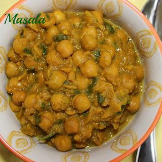 Chana Masala Without Tomatoes Recipes.