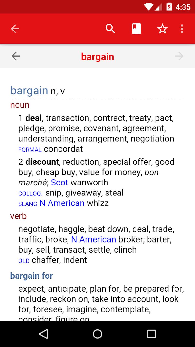 Chambers Thesaurus Screenshot 1