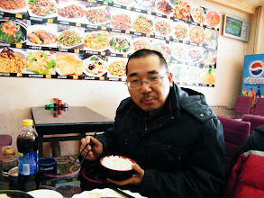 Photo: dined out with son in lunar Mourning Day for canteen out of service. I hated it for the extra expense under my current shabby financial situation. a cop, or slef-claimed cop, queried my situation &persuaded me fleet from Qiqihar, saying people here r bad people. I replied anyone in any place needs a shelter and a job. dogging PRC barking upon my Royal China behind curtain. here benzrad, the dad, ate his only meal after angry with his son's mom, a cheap bitch, for being banned from video games with his son all the morning.