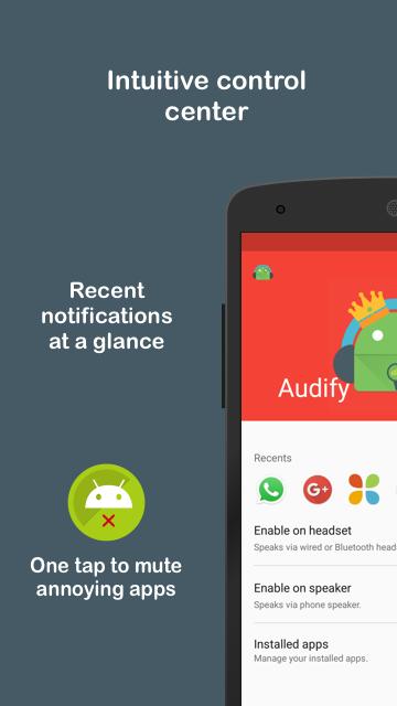 Audify Notifications Reader Screenshot 1
