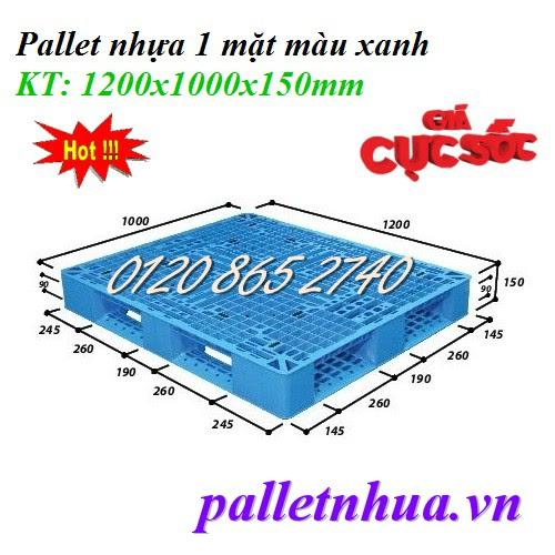 Pallet nhựa 1200x1000x150