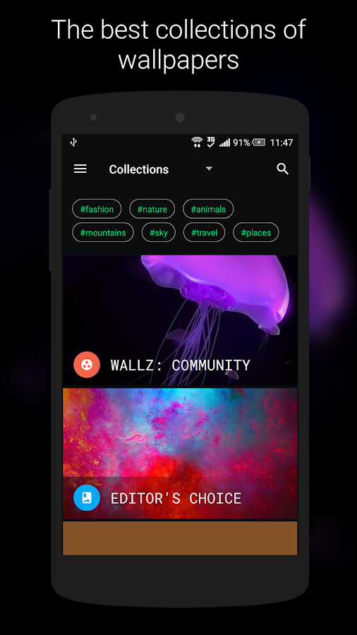 Wallz - HD Stock, Community & Live Wallpapers- screenshot
