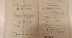 Interior del programa del año 1893 en el que se puede contemplar la primera piedra de ese 'Asilo de la Noche'