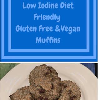 Low Iodine Diet Friendly Vegan Gluten Free Muffins.