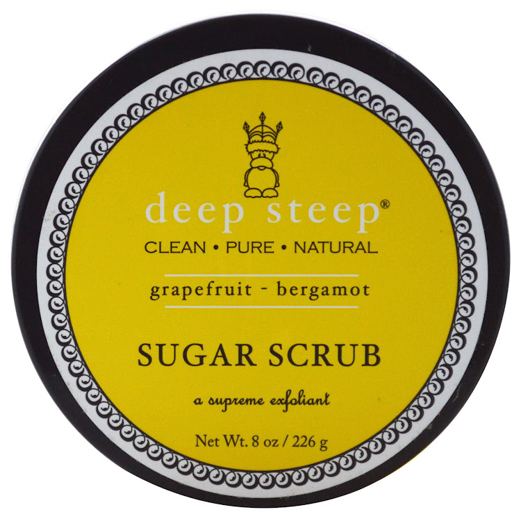 Deep Steep, Organic Sugar Scrub, Grapefruit - Bergamot, 8 oz (226 g) by Supermodels Secrets