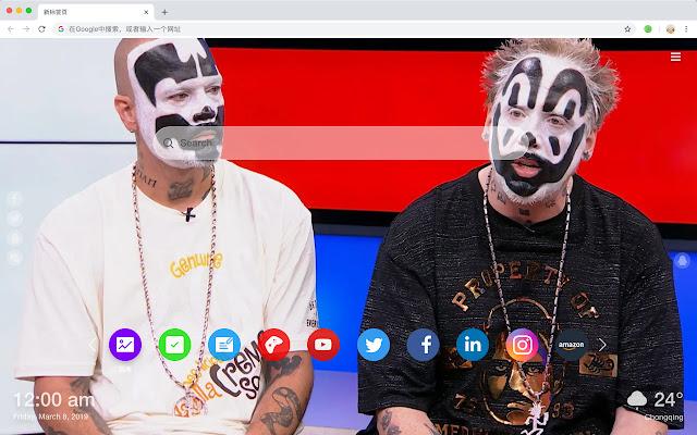 Insane Clown Posse New Tab Band HD Theme