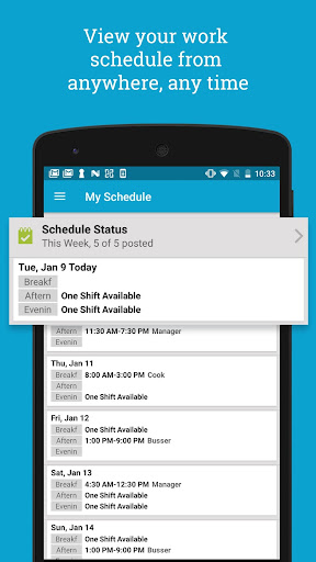 Screenshot for HotSchedules in United States Play Store