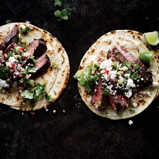 Steak Tacos with Cilantro-Radish Salsa