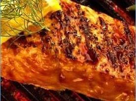 Barbecued Salmon With Lemon, Herbs Recipe